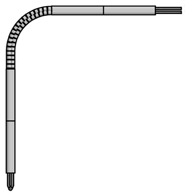 Angle Base-Metal Thermocouple Elements