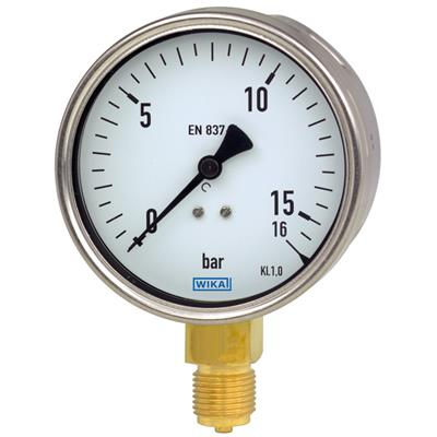 Bourdon Tube Pressure Gauge, Copper Alloy - 212.20