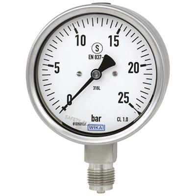 Bourdon Tube Pressure Gauge, Stainless Steel - 232.30, 233.30