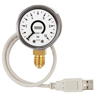 Bourdon Tube Pressure Gauge with Output Signal - PGT10 USB