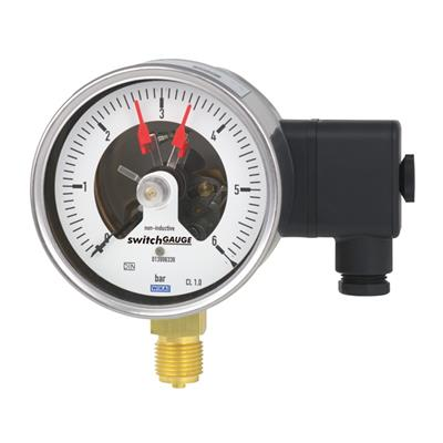 Bourdon Tube Pressure Gauge with Switch Contacts - PGS21.100, PGS21.160